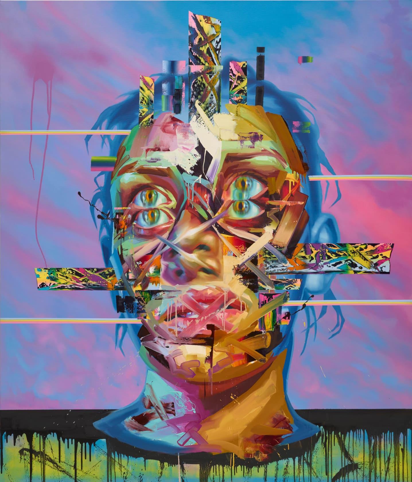Justin bower Faith Healer I Oil on Canvas