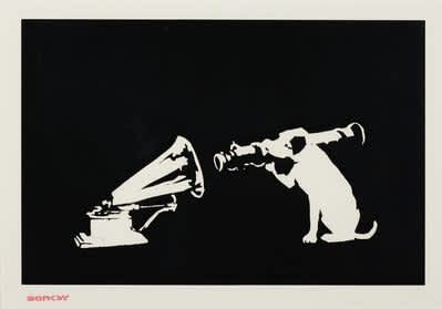 Banksy HMV (Unsigned) Screenprint