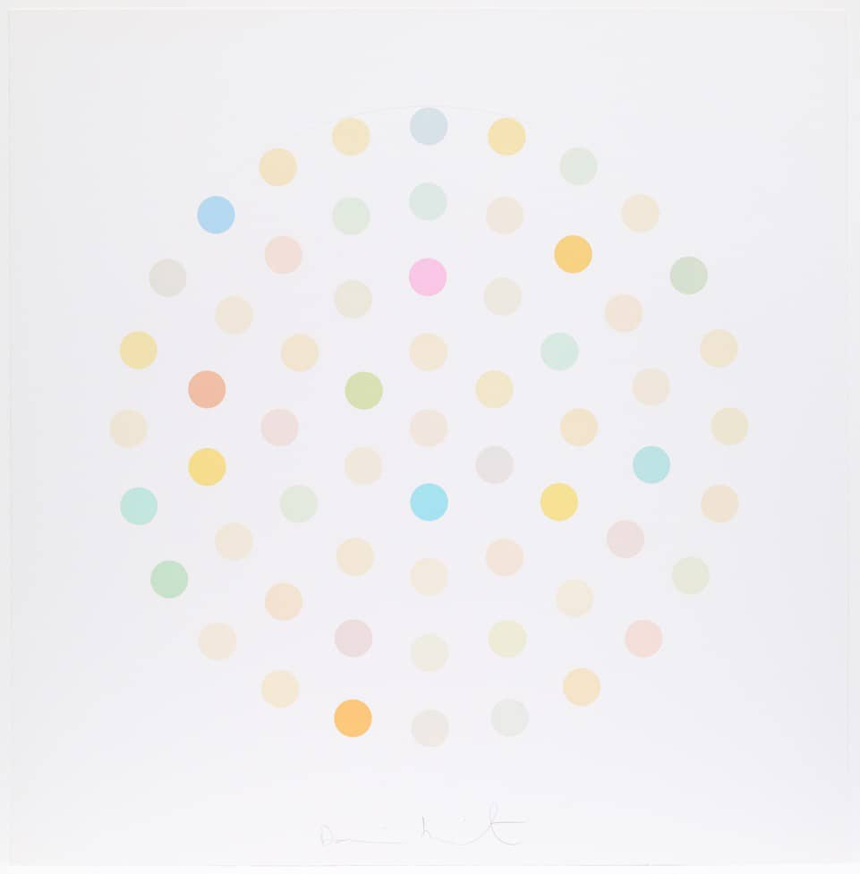 Damien Hirst Ciclopirox Olamine Etching and aquatint in colours