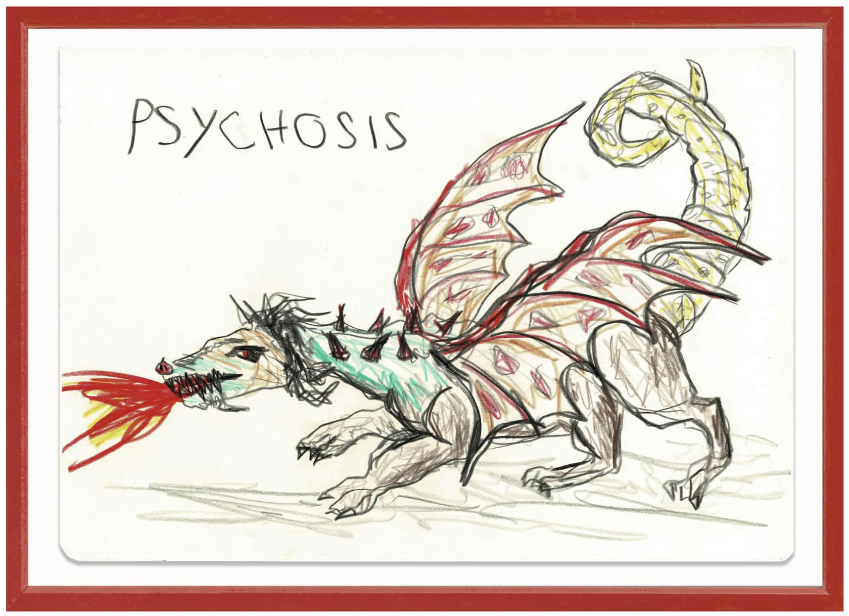 the connor brothers Psychosis Crayon on paper