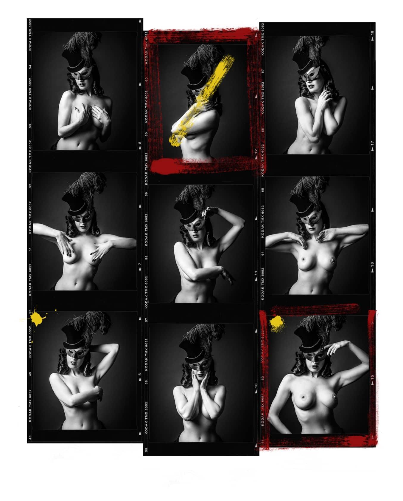 Andy Gotts Dita Von Teese Contact Sheet Fine Art Giclée Archival Print