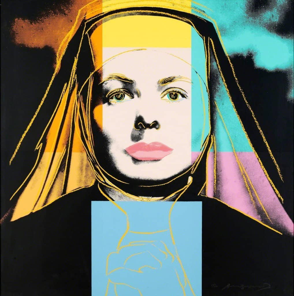 Andy Warhol Ingrid The Nun Screenprint in Colours