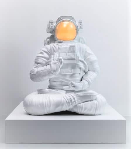 Joseph Klibansky White Universe Polished Bronze Sculpture