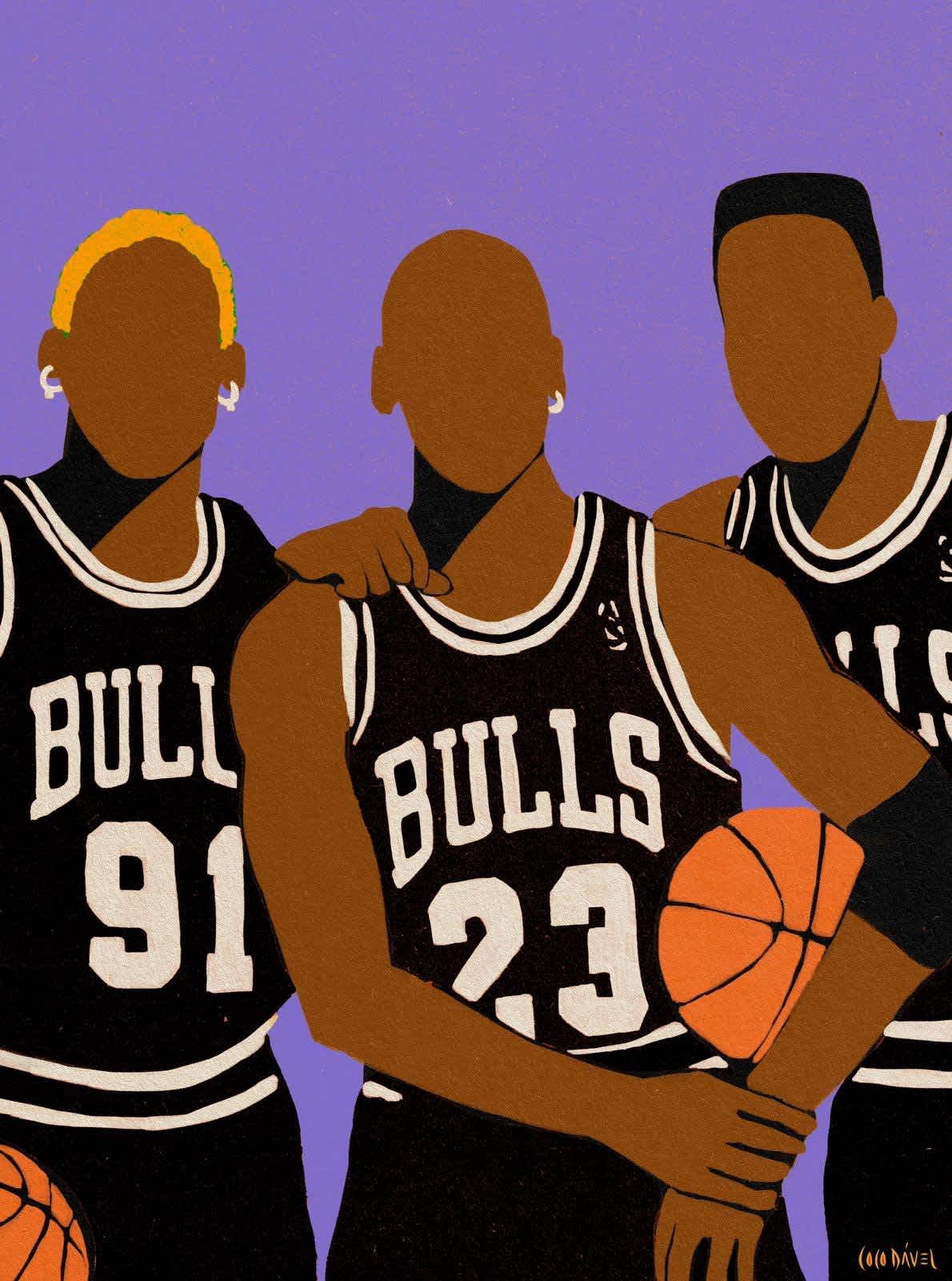 Coco Dávez Chicago Bulls Acrylic on Canvas