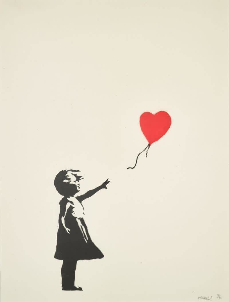 Banksy, Girl with Balloon (Signed), 2004