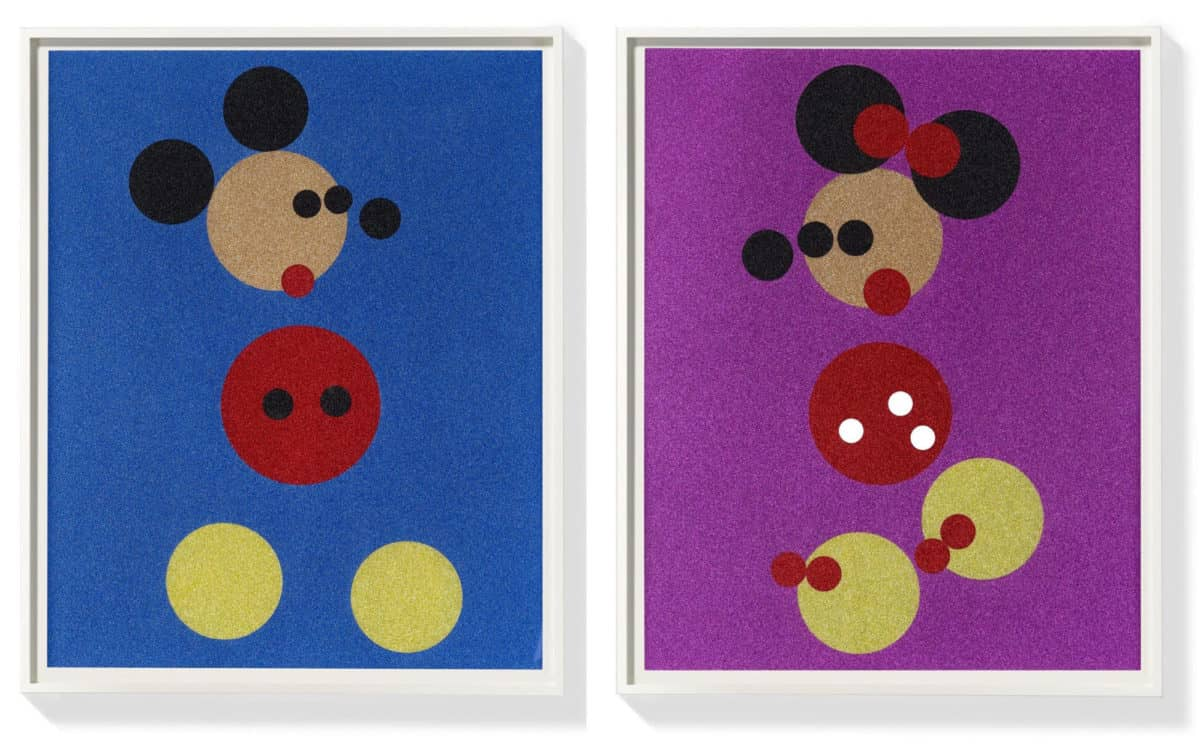 Damien Hirst, Mickey & Minnie , 2016