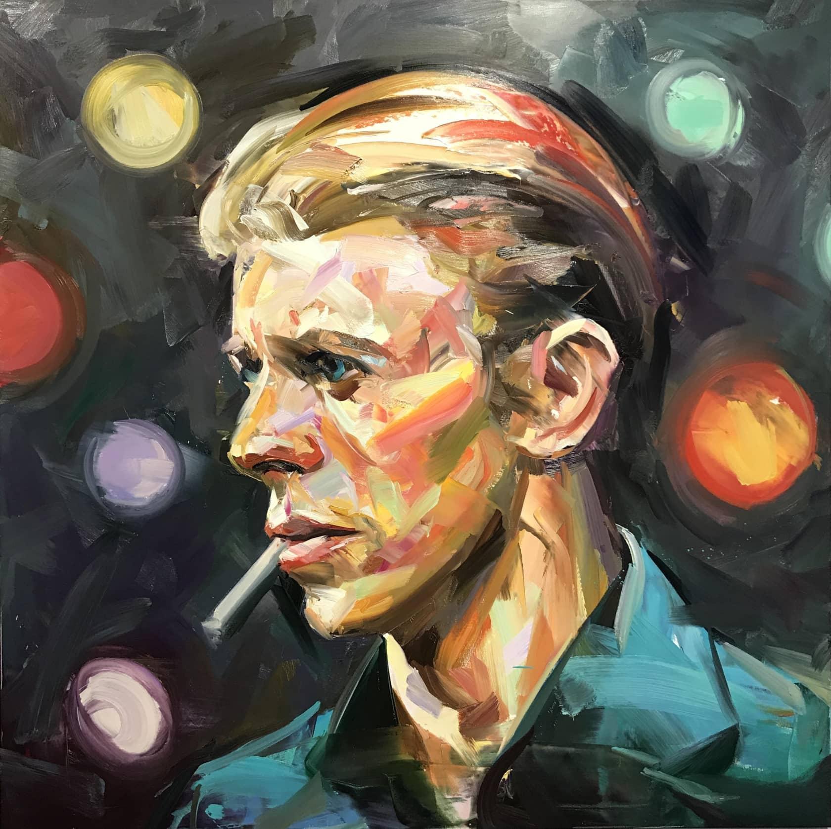 Paul Wright, Bowie Side Profile, 2017