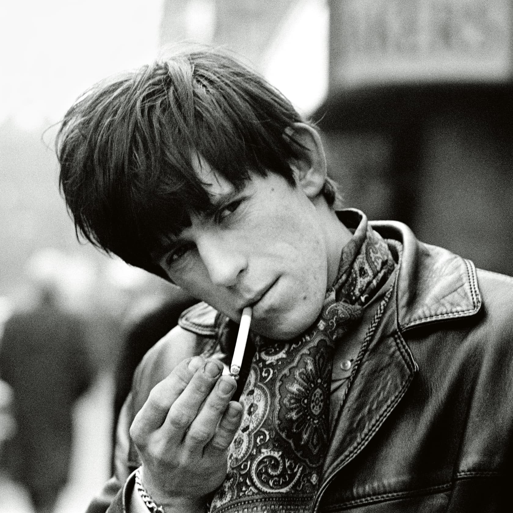 Terry O'Neill Keith Richards in Soho, London Lifetime Gelatin Silver Print