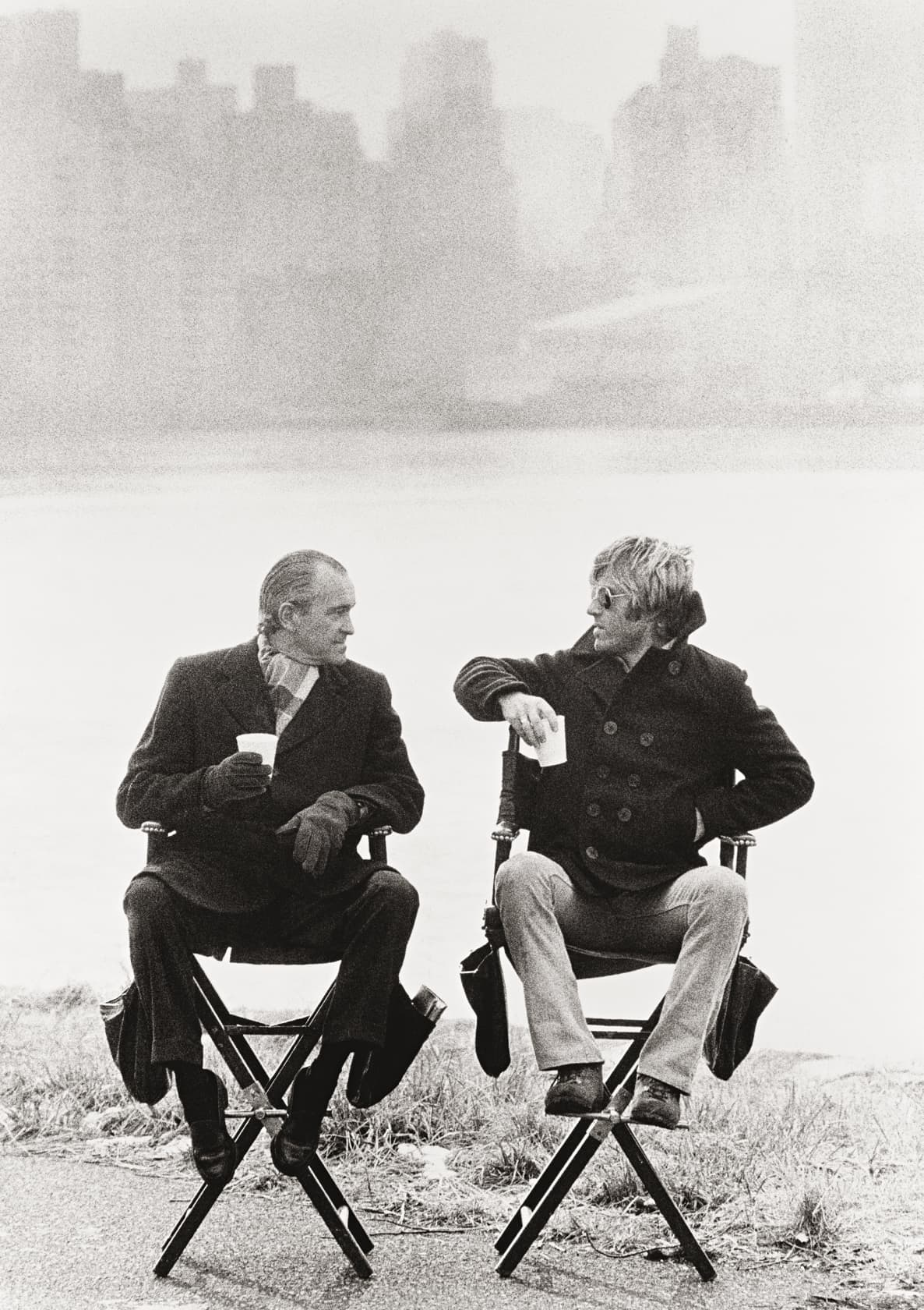 Terry O'Neill Robert Redford and Richard Helms, New York Lifetime Gelatin Silver Print