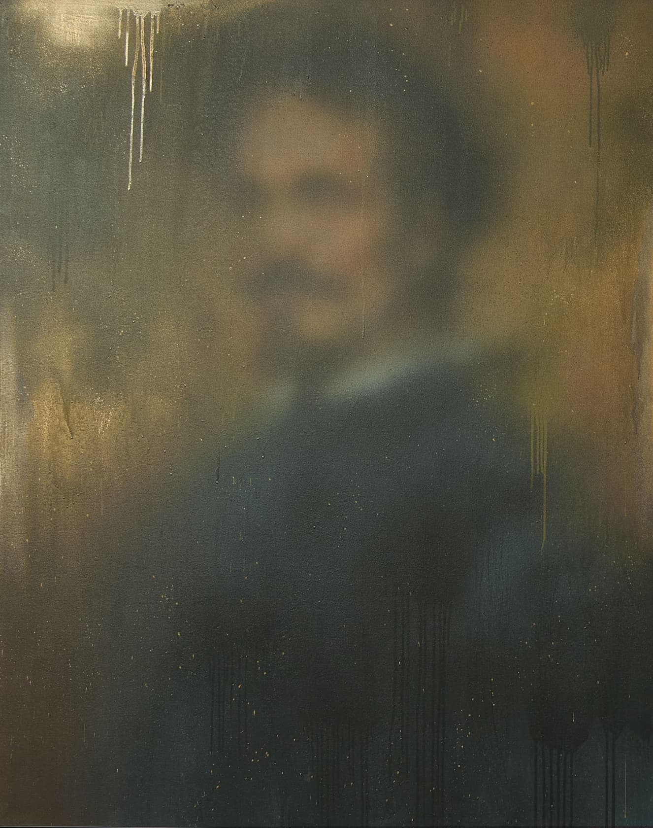 Miaz Brothers Portrait of a Nobleman Acrylic and Spray Paint on Canvas
