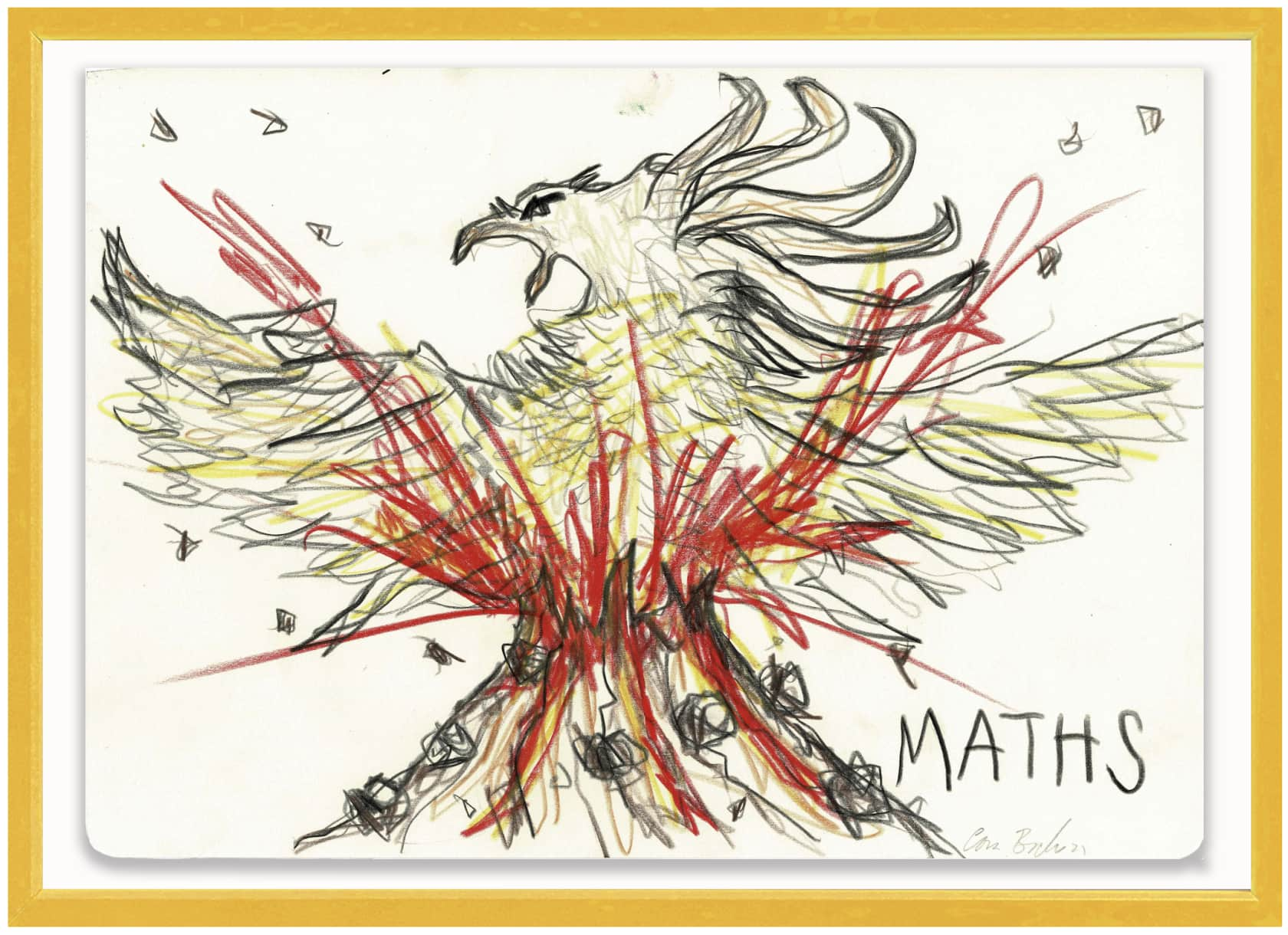 the connor brothers Maths Crayon on paper