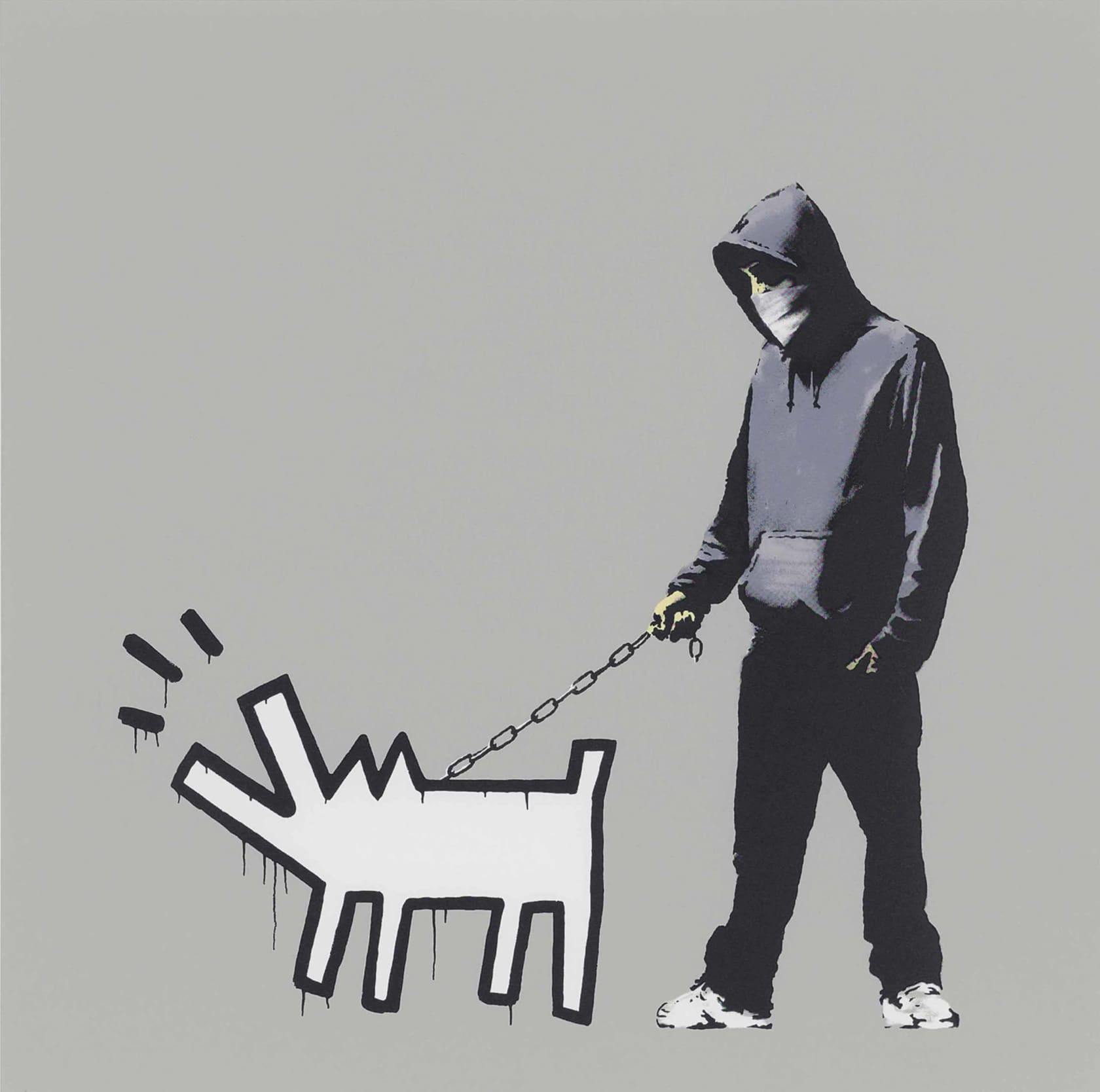 Banksy, Choose Your Weapon - Grey, 2010