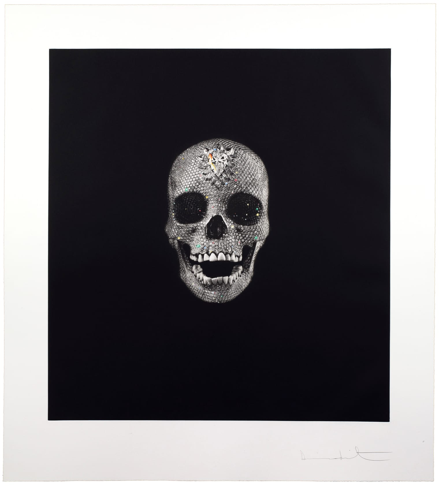 Damien Hirst Victory Over Death Etching with handcolouring