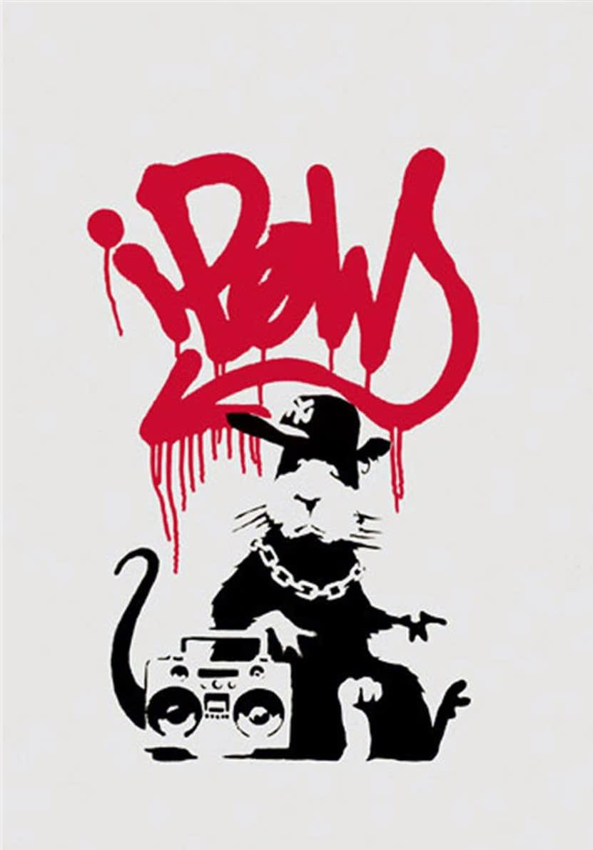 Banksy, Gangsta Rat (Unsigned), 2004