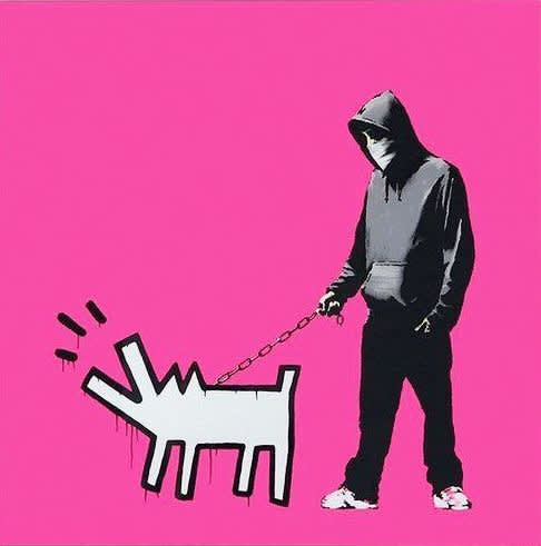 Banksy, Choose Your Weapon - Magenta (signed), 2010