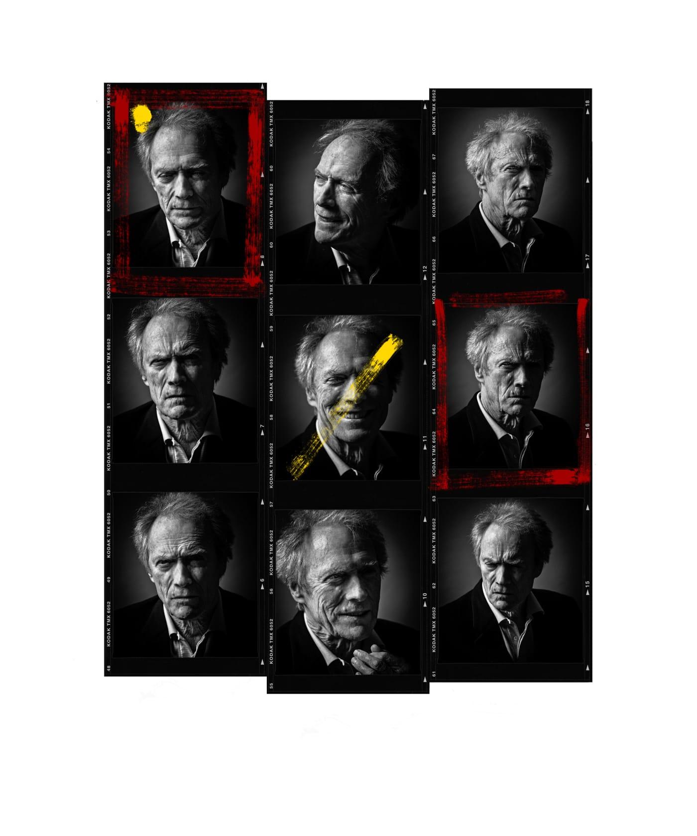 Andy Gotts Clint Eastwood Contact Sheet Fine Art Giclée Archival Print