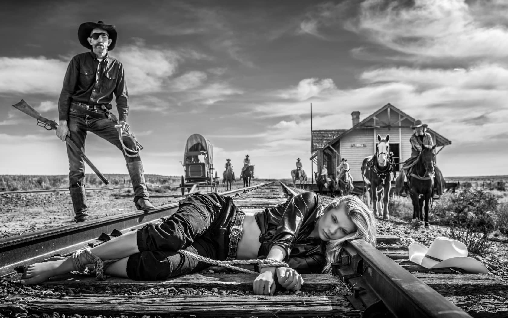 David Yarrow 3:10 to Yuma Archival Pigment Print