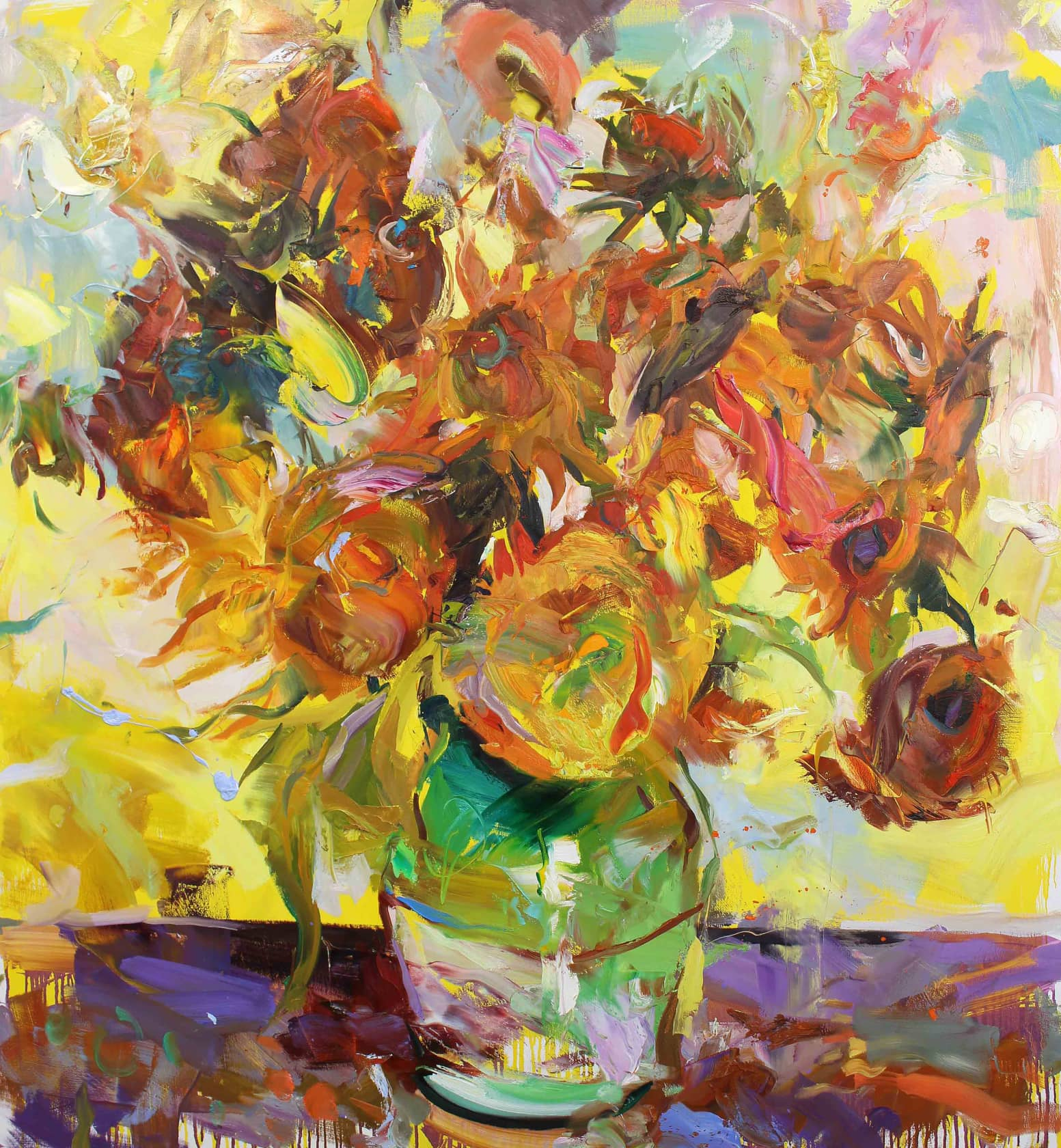 Paul Wright, The Flowers (after Van Gogh), 2017