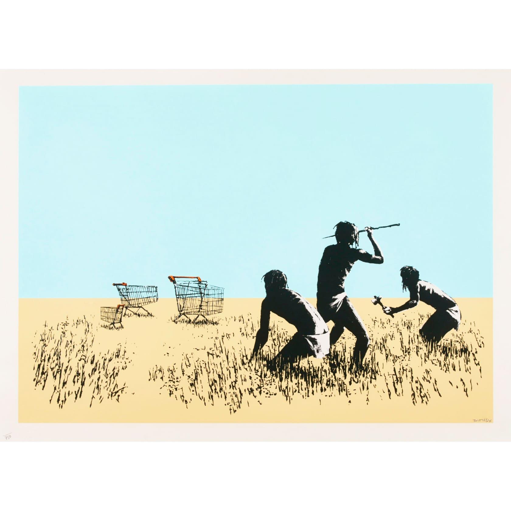 Banksy, Trolleys (Signed), 2007