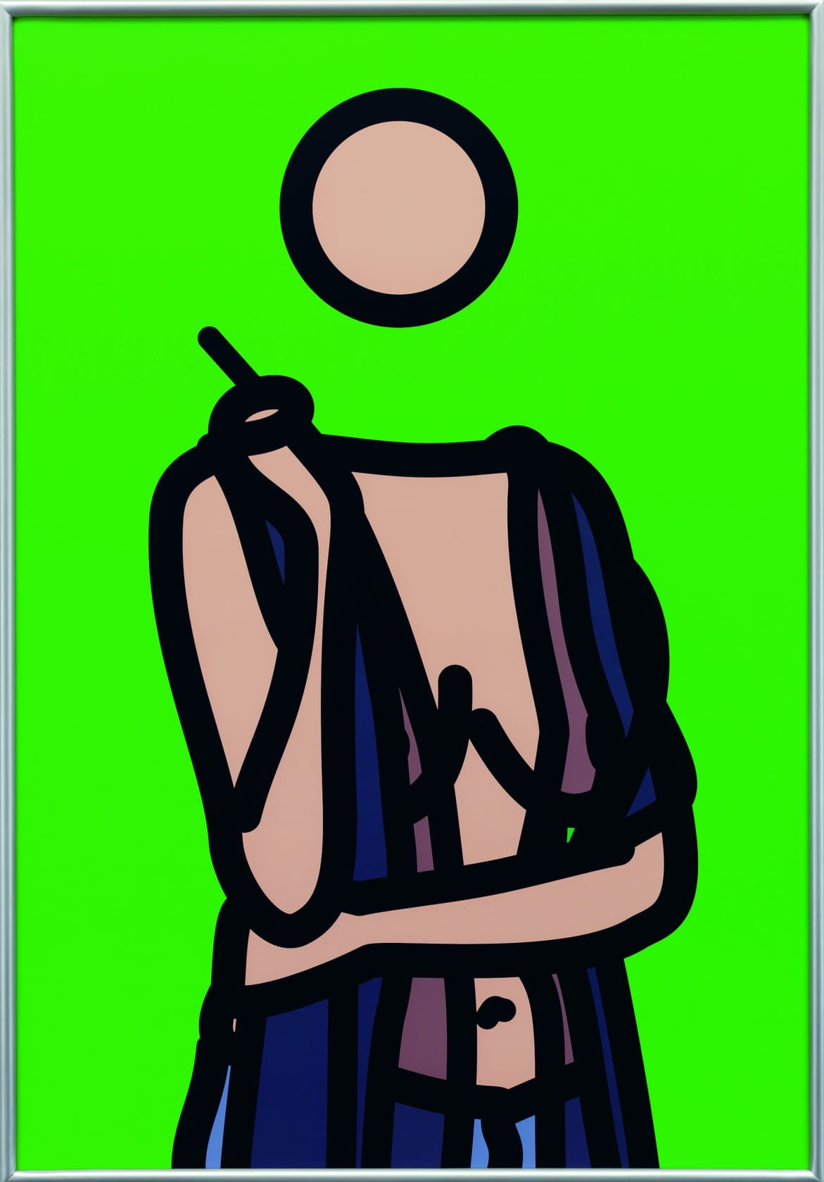 Julian Opie, Ruth with Cigarette 5, 2005