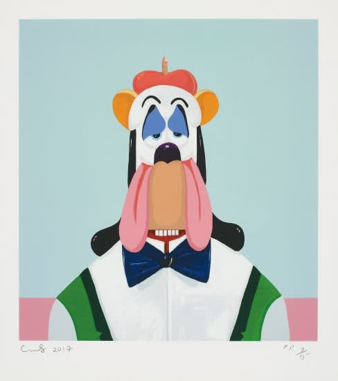 George Condo Droopy Dog Abstraction Screenprint