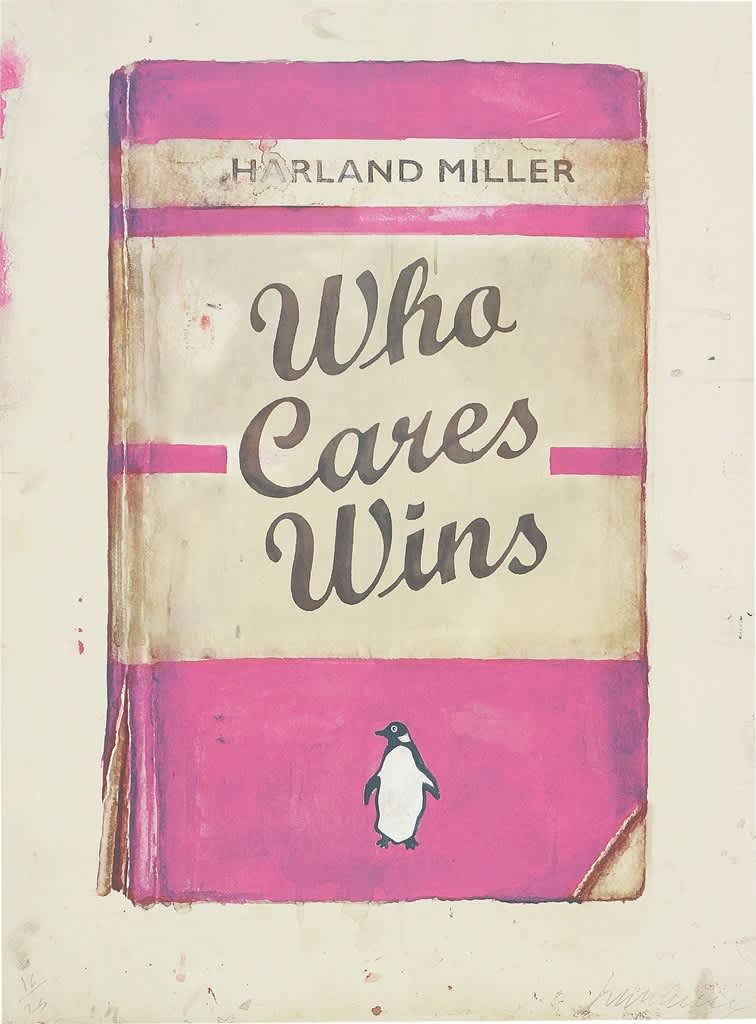 Harland Miller, Who Cares Wins, 2016