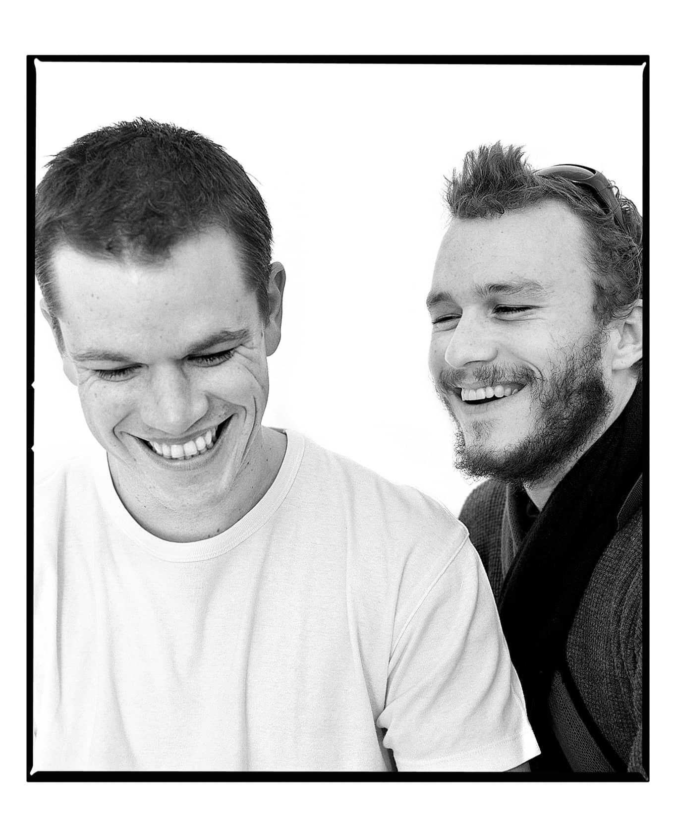 Andy Gotts Heath Ledger and Matt Damon Fine Art Giclée Archival Print