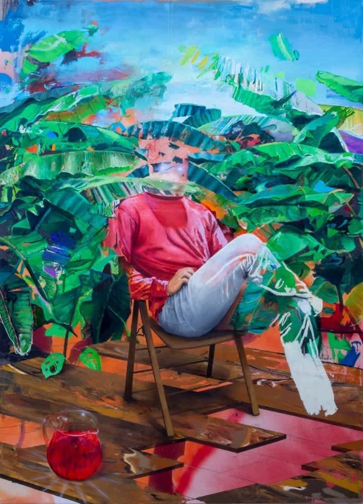 Sol Summers Jim Jones Oil on Canvas