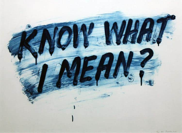 Mel Bochner Know What I Mean? Etching with aquatint