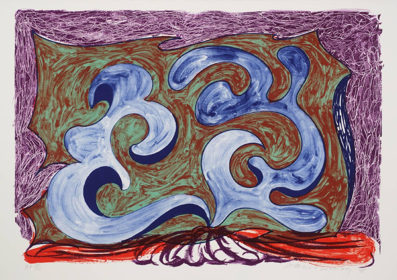 David Hockney Rampant Lithograph on Paper