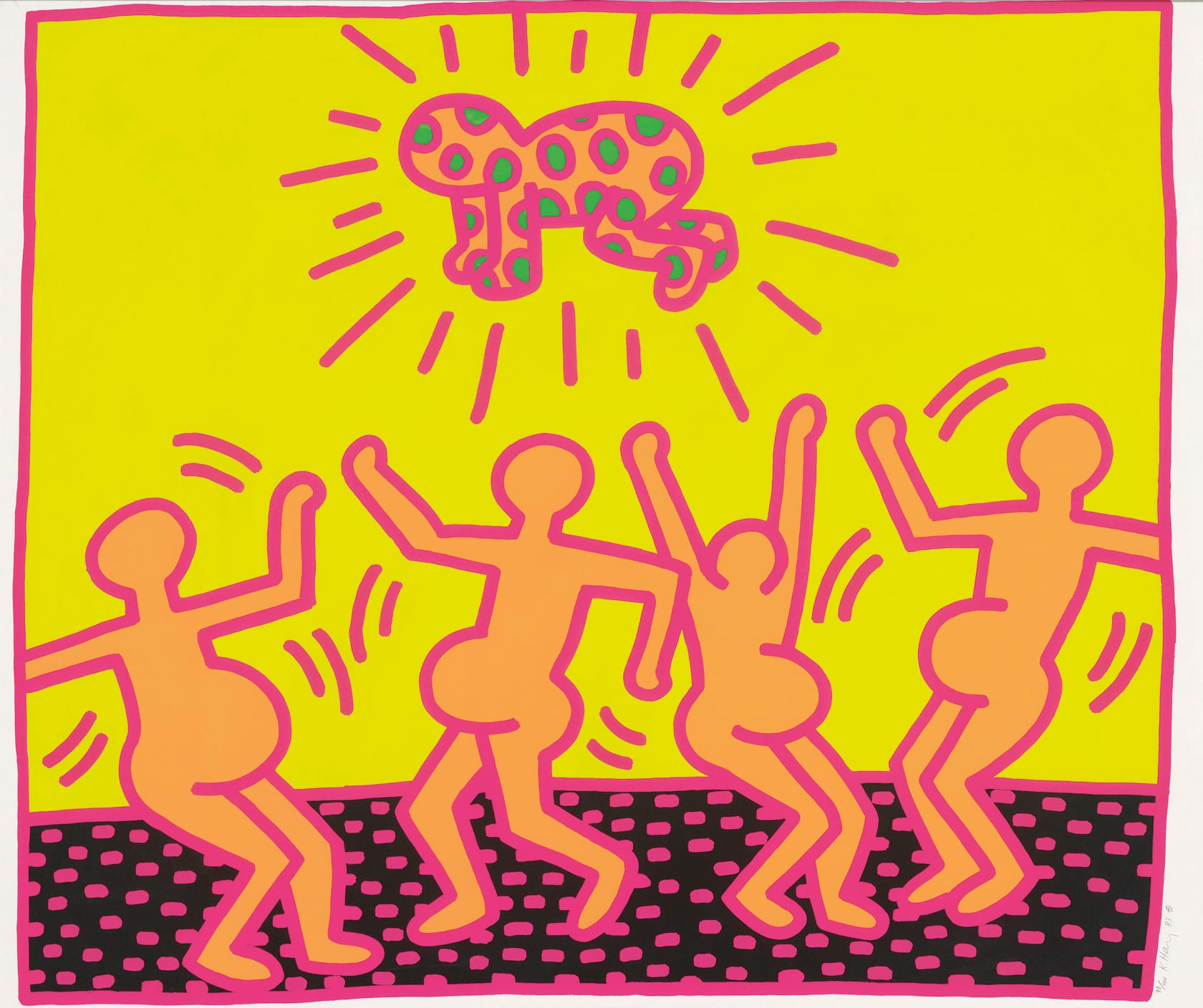 Keith Haring Fertility Suite, Untitled 1 Screenprint