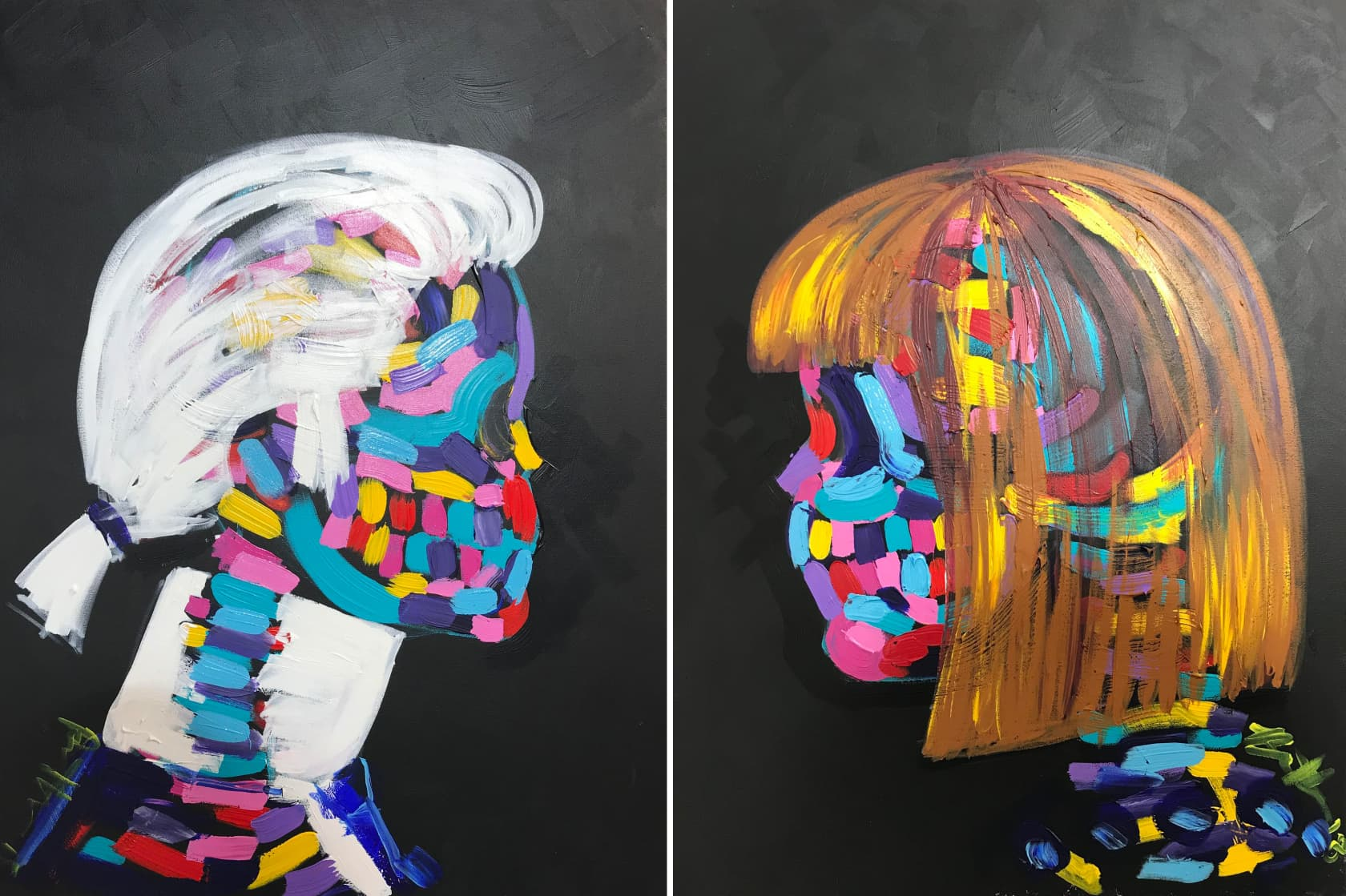 Bradley Theodore Karl & Anna Acrylic on Canvas
