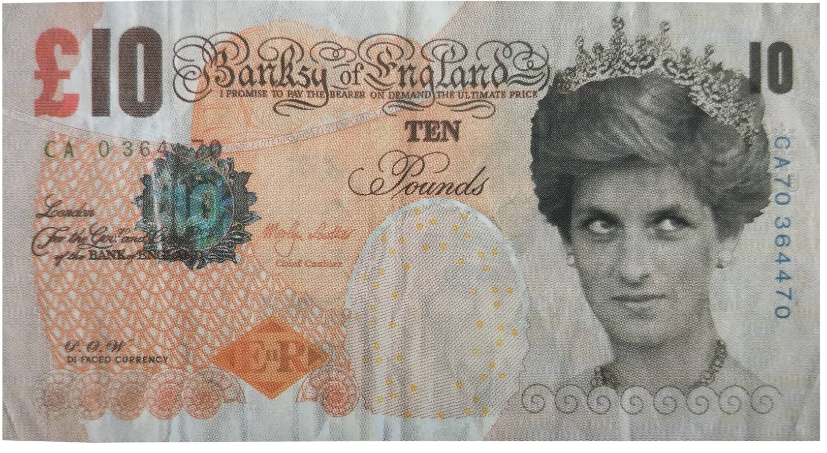Banksy, Di-Faced Tenner Note (Ten Pounds), 2004