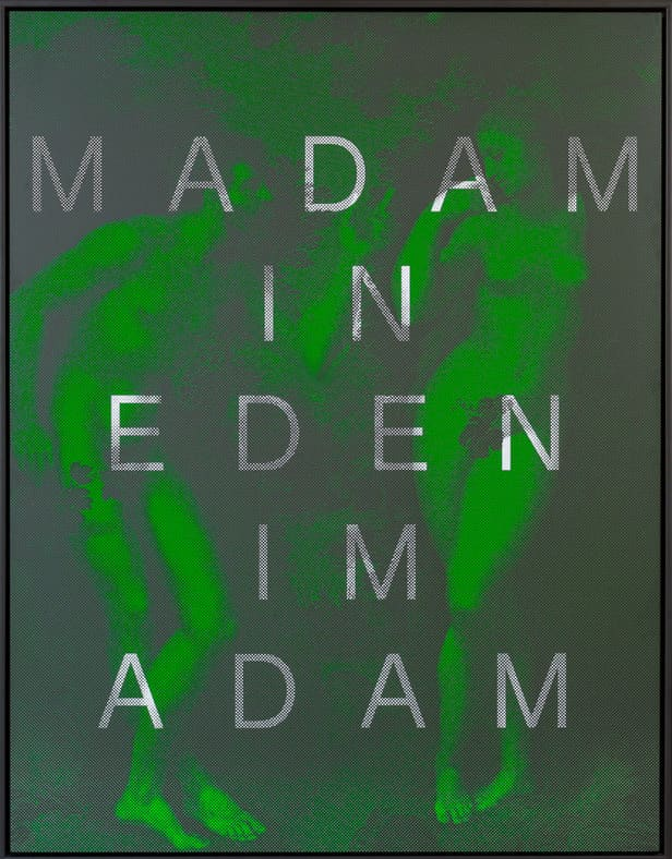 Massimo Agostinelli Madam in Eden Im Adam Matt ink on vinyl and acrylic mirror