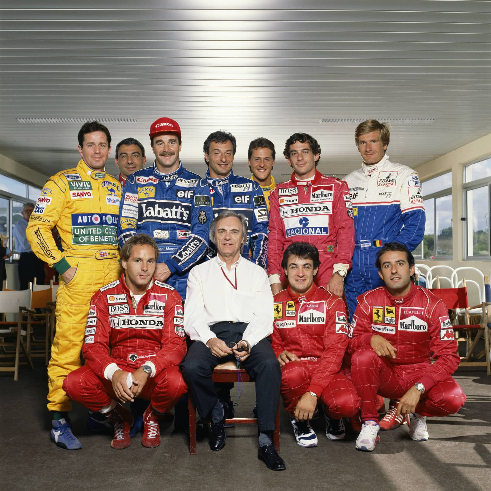 Terry O'Neill Bernie Ecclestone with Formula 1 Drivers Posthumous C-Type Print