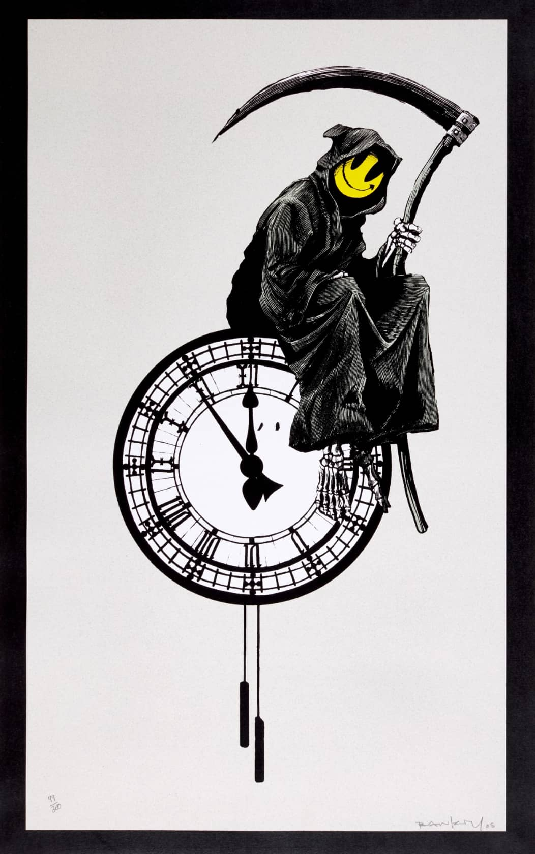 Banksy, Grin Reaper (signed), 2005
