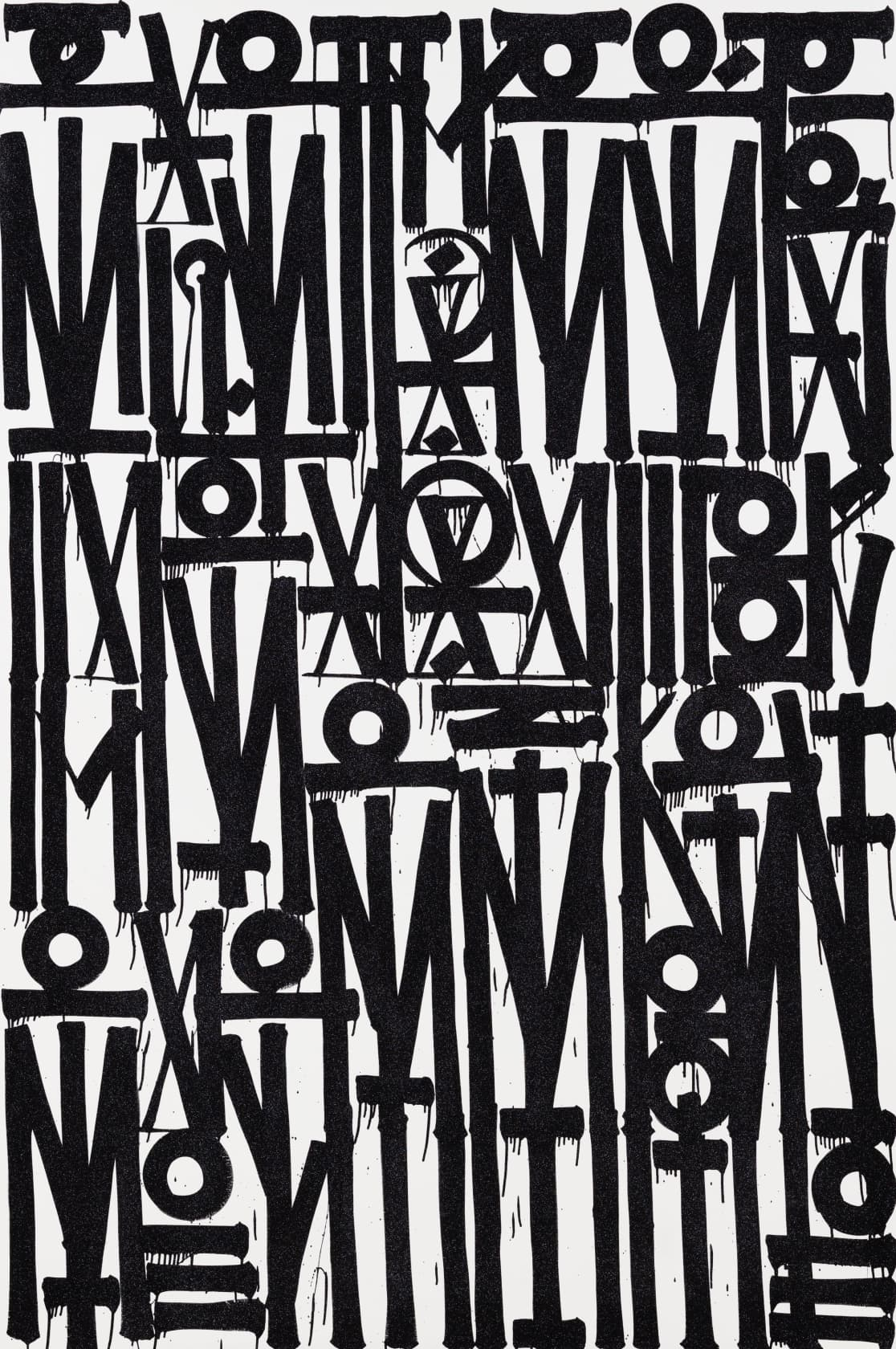 Retna Even The Heart Skips A Beat Enamel Acrylic and Crystalline on Canvas