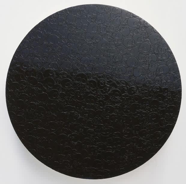 Takashi Murakami Black Glitter Acrylic on canvas