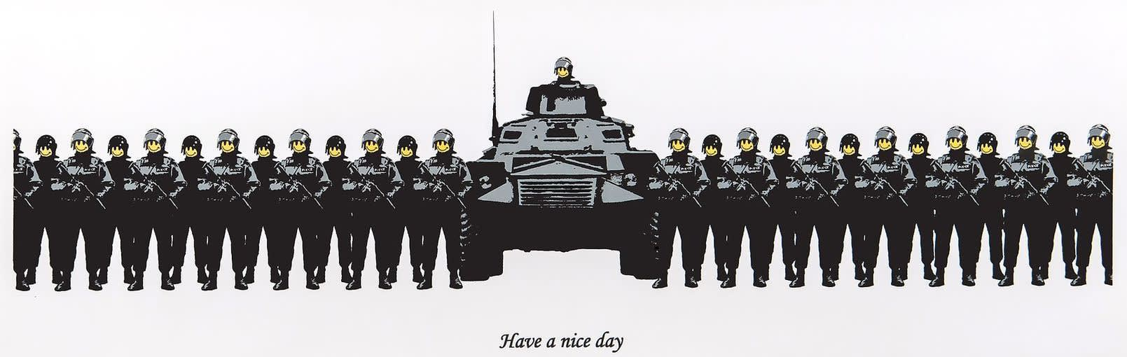 Banksy, Have a Nice Day (Unsigned), 2003