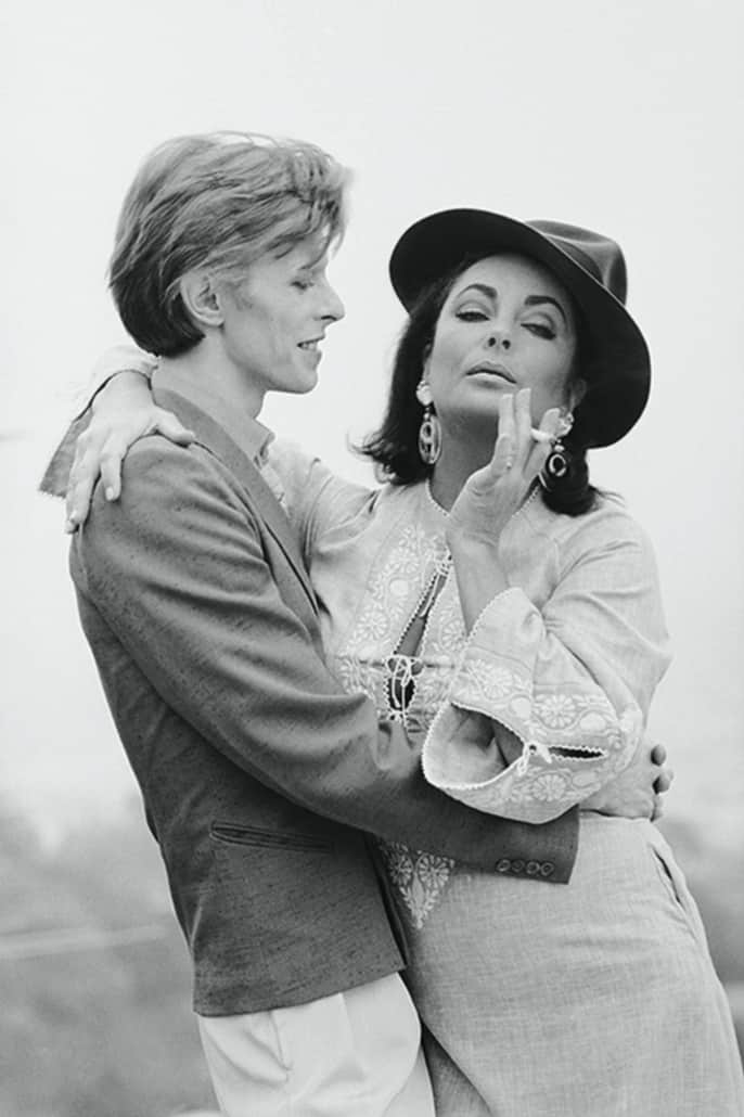 Terry O'Neill, David Bowie with Elizabeth Taylor, 1975