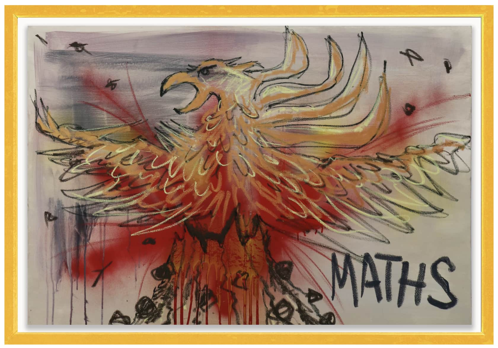 the connor brothers Maths Acrylic and oil pastel on canvas