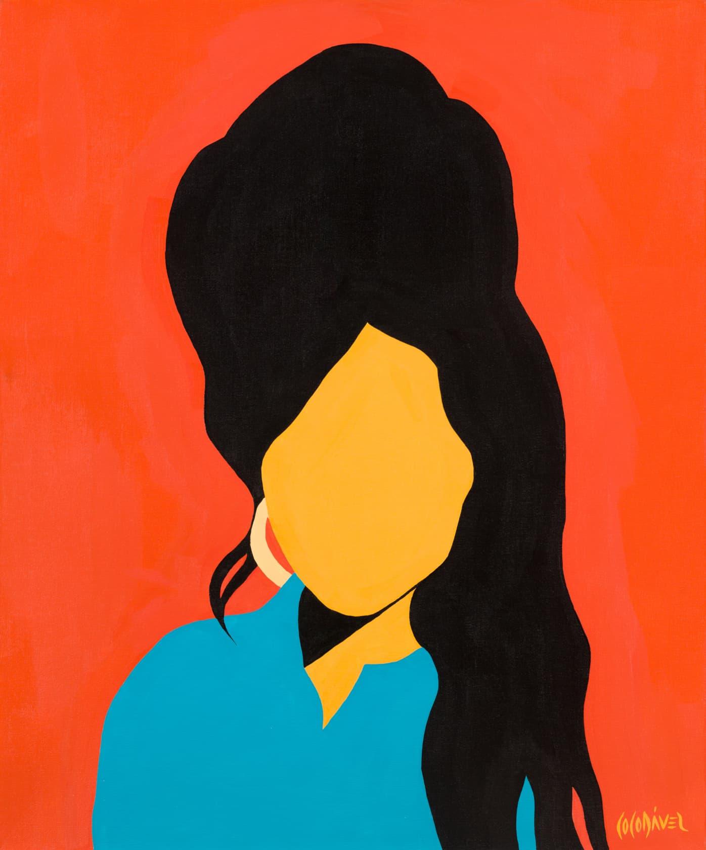 Coco Davez Amy Winehouse Acrylic on Canvas
