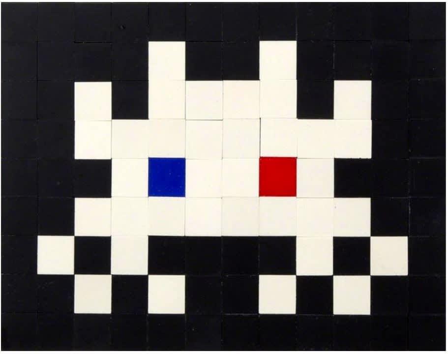 Invader Invasion Kit #14 (3D Vision) 106 ceramic tiles + 2 glass tiles