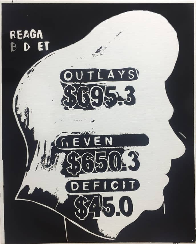 Andy Warhol, Reagan Budget Deficit (Negative), 1985-86