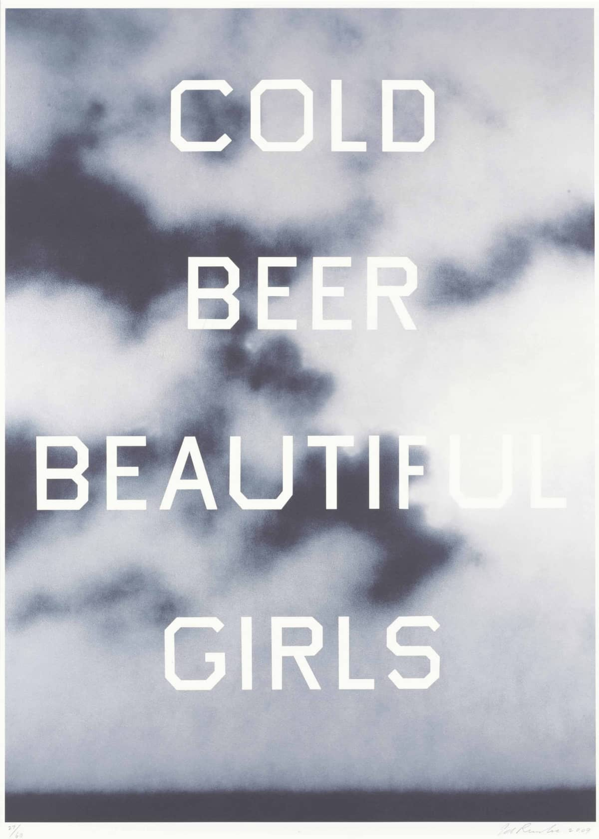 Ed Ruscha Cold Beer Beautiful Girls Colour Lithograph