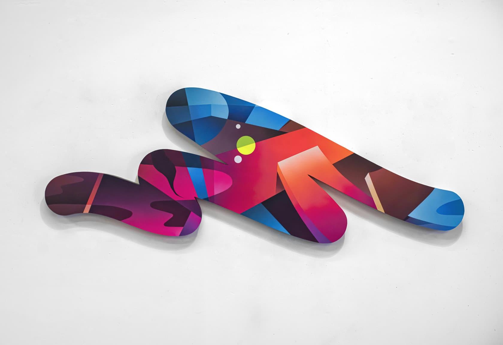 Mikael B Mood Swing Spray paint on canvas
