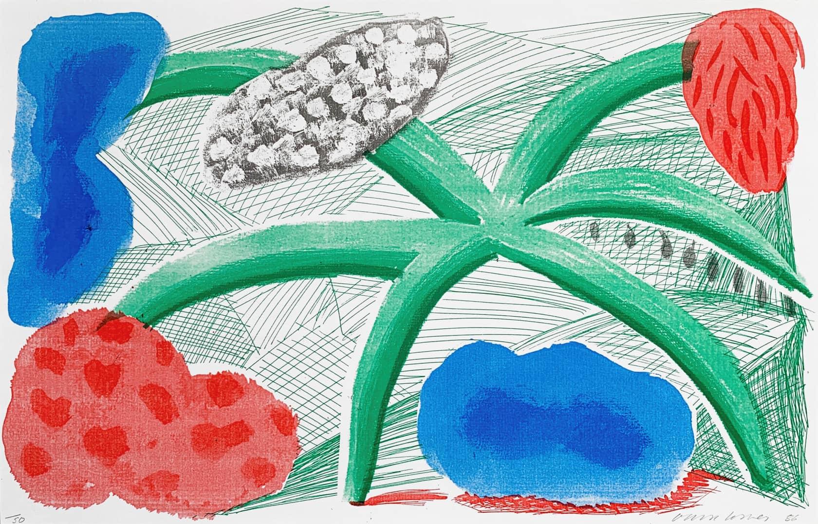 David Hockney Landscape With A Plant Screenprint