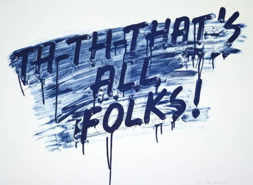 Mel Bochner That's All Folks! Etching with aquatint