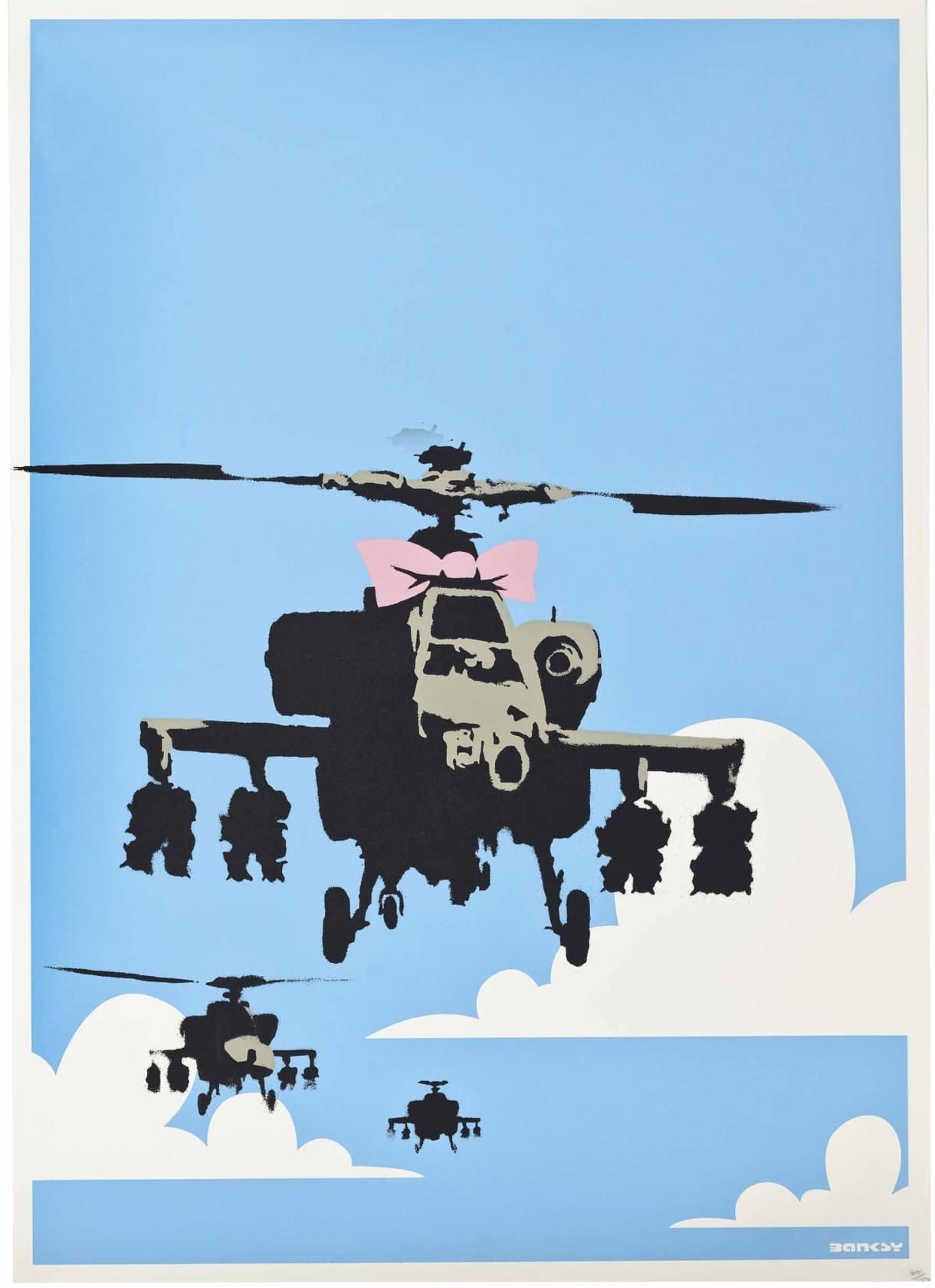 Banksy Happy Choppers (Unsigned) Screenprint