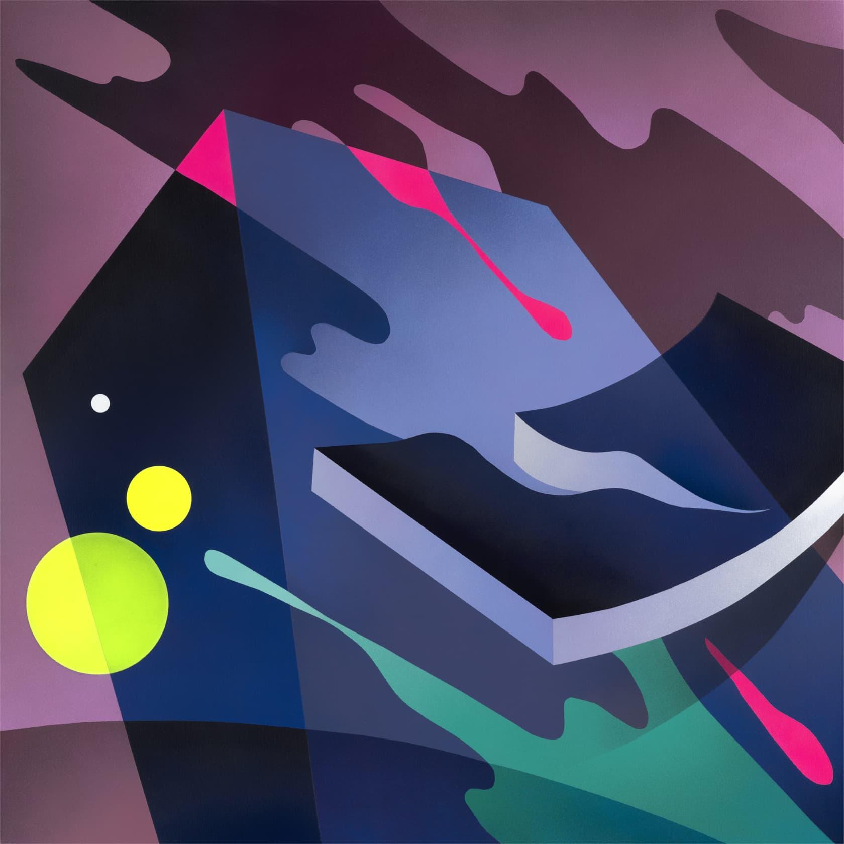 Mikael B Night Drive #2 Spray Paint on Canvas